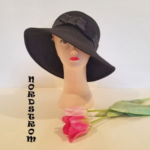 NWT Nordstrom Bow-Adorned Wool Hat